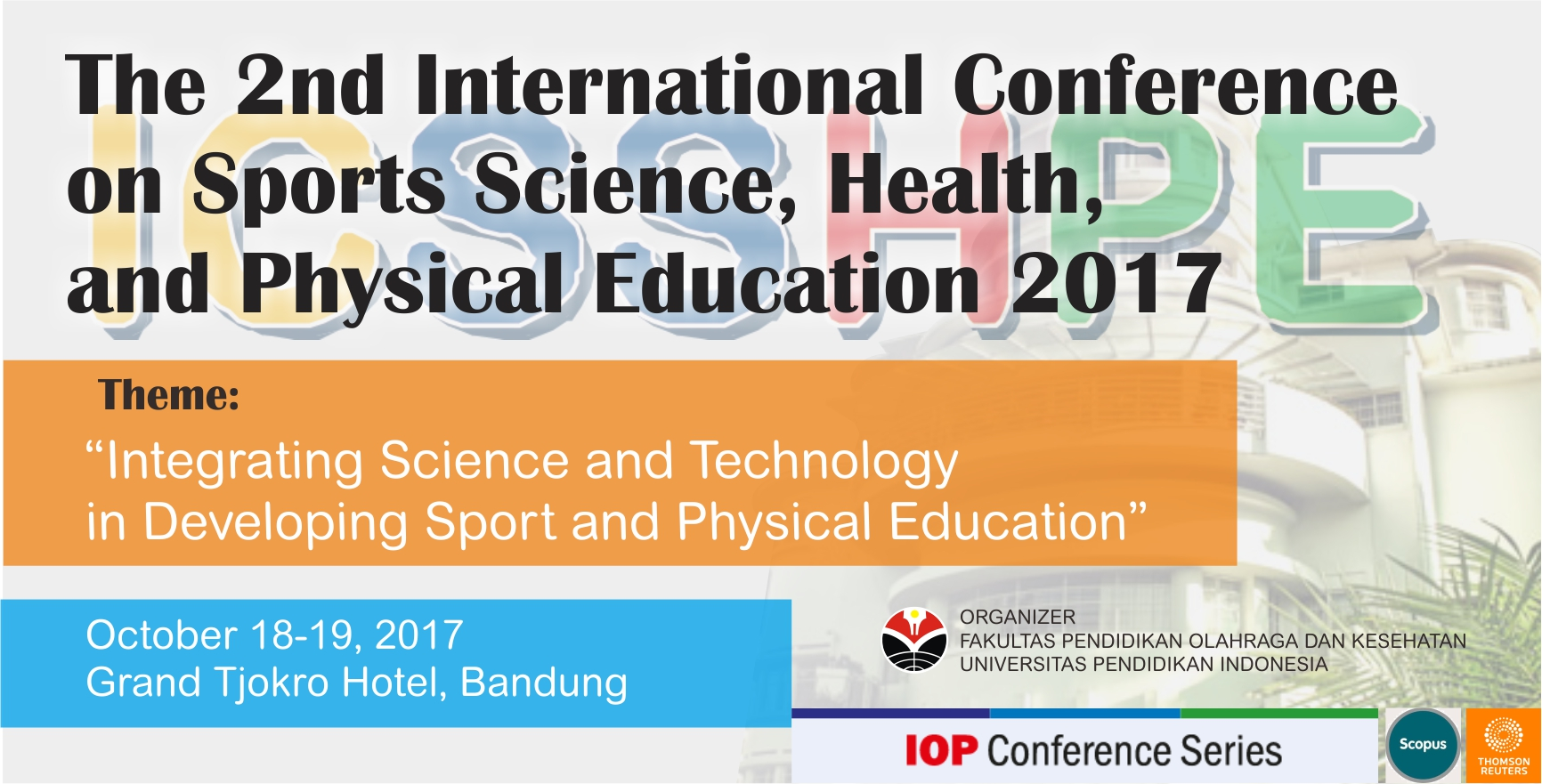 Welcome to The 2nd ICSSHPE 2017